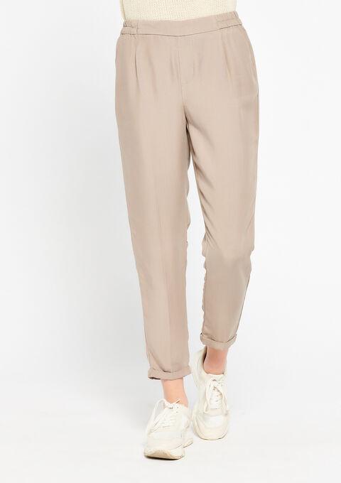Losse broek in tencel - SIMPLE TAUPE - 924924