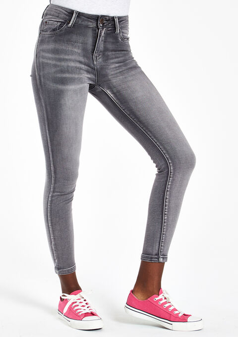 Jeans skinny, taille haute - LIGHT GREY - 06003312_504