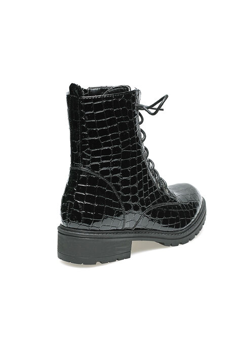 Bottes en croco - BLACK - 13100033_1119