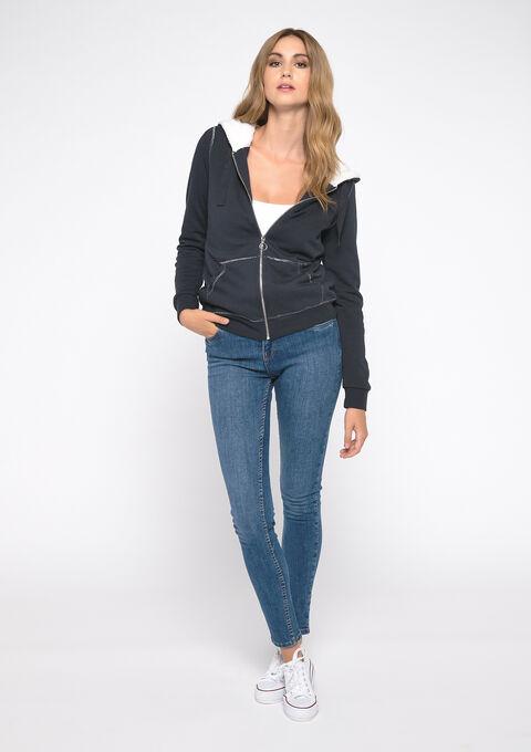 Sweater met cap - NAVY SHADOW - 03001390_2713