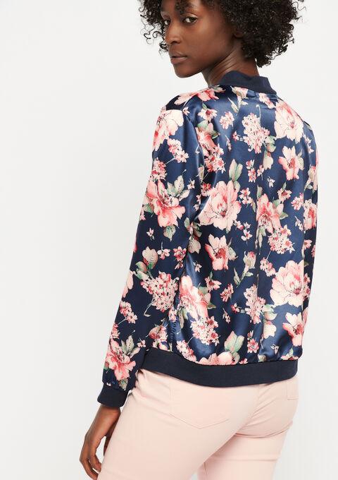 Jasje met bloemenprint - BLACK IRIS - 09100202_1667