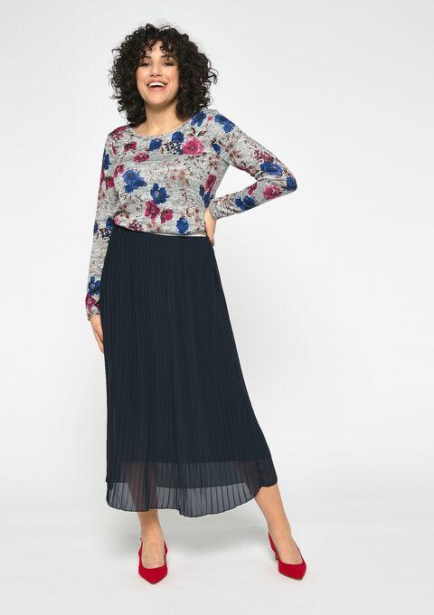 Sweater met bloemenprint - GREY MILD MEL. - 03001494_3504