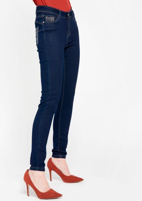 Normaal taille skinny jeans - DARK BLUE - 22000041_501