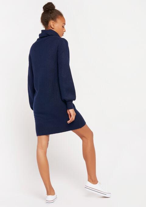 Trui-jurk met col - PEACOAT BLUE - 08100722_1655