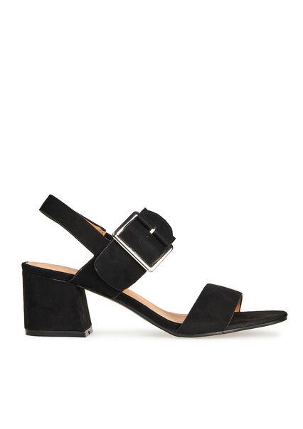 Sandales en suédine, grande boucle - BLACK - 13000324_1119