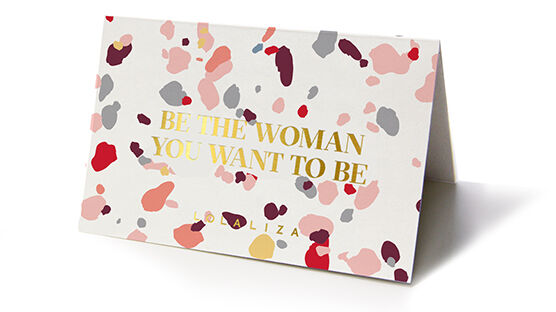 Carte cadeau  - BE THE WOMAN YOU WANT TO BE - 993290