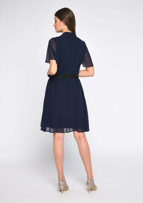 Mini jurk korte mouwen - PEACOAT BLUE - 08101547_1655