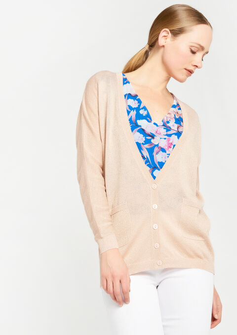 Basic cardigan - PINK CALM - 918851