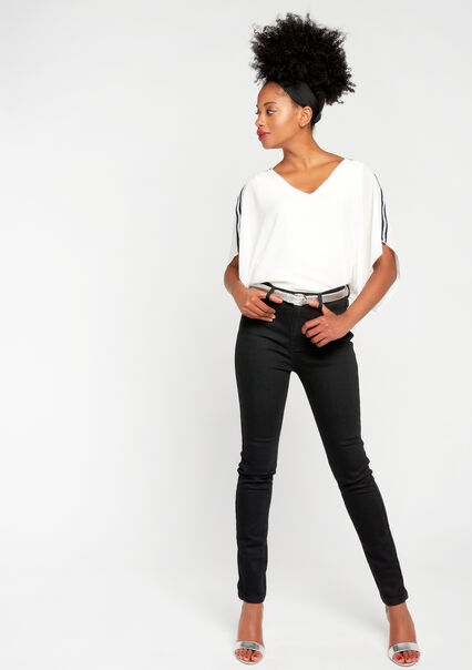 Jeans slim, hoge taille - BLACK - 06003601_503