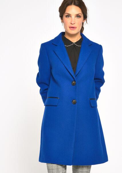 Kneelength coat - BLUE TATE - 23000104_2914