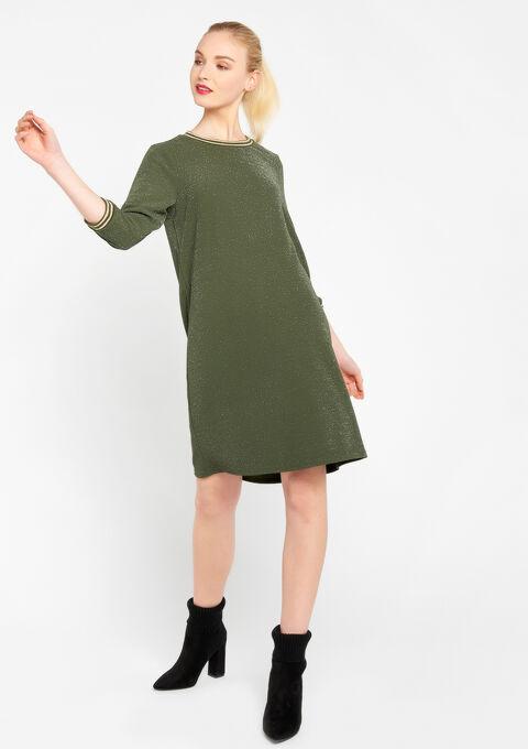 Rechte jurk met lurex - OLIVE KAKHI - 08100554_1884