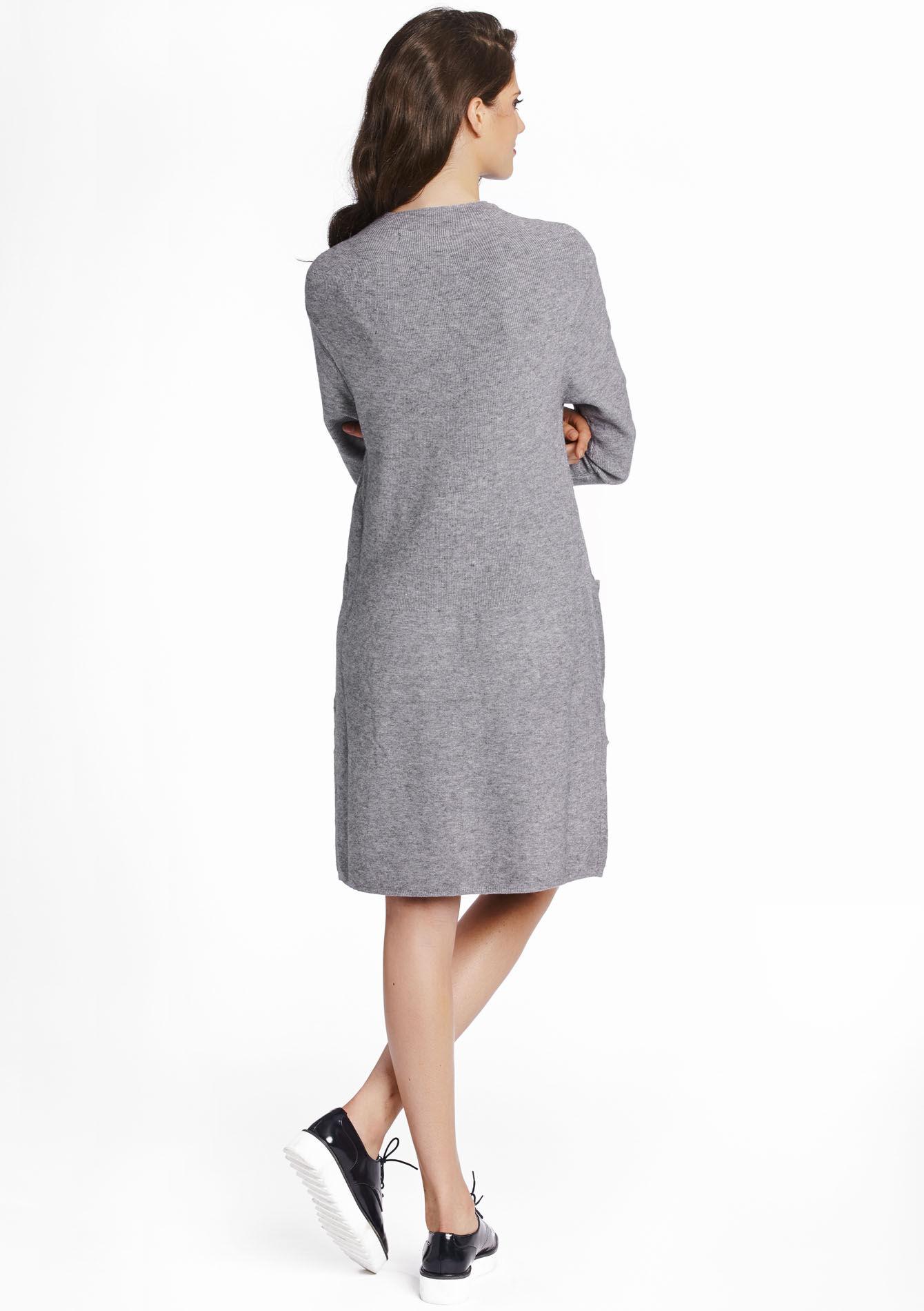 gebreide jurk met zakken