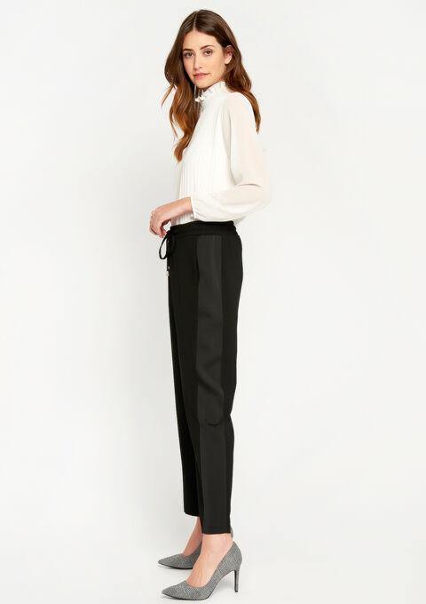 Pantalon avec bande satinée - BLACK - 06600069_1119