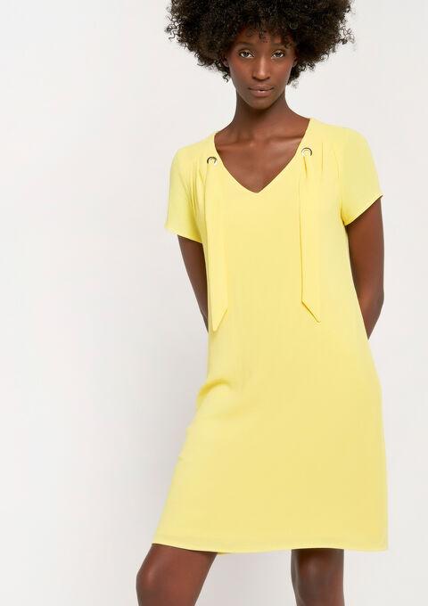 Rechte jurk met eyelets - YELLOW SUMMER - 08100690_1185