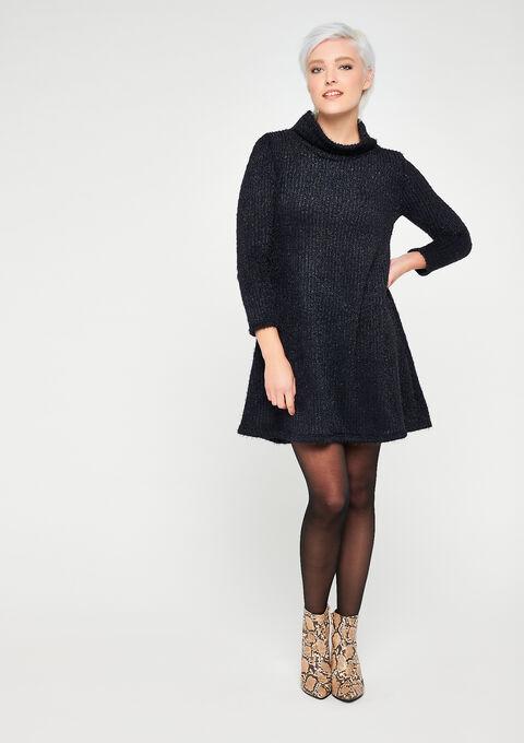 Roll neck sweater dress - NAVY BLUE - 08101907_1651