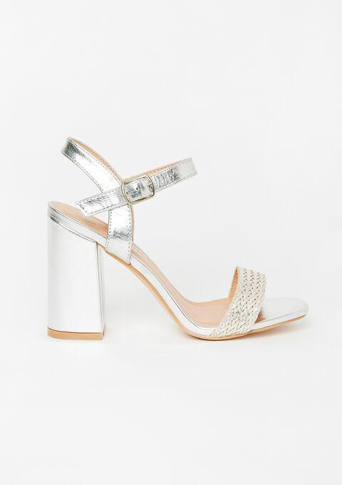 High silver sandals - SILVER - 13000451_1059