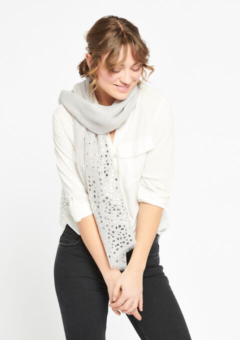 Sjaal met blinkende stippen - GREY MILD MEL. - 933971