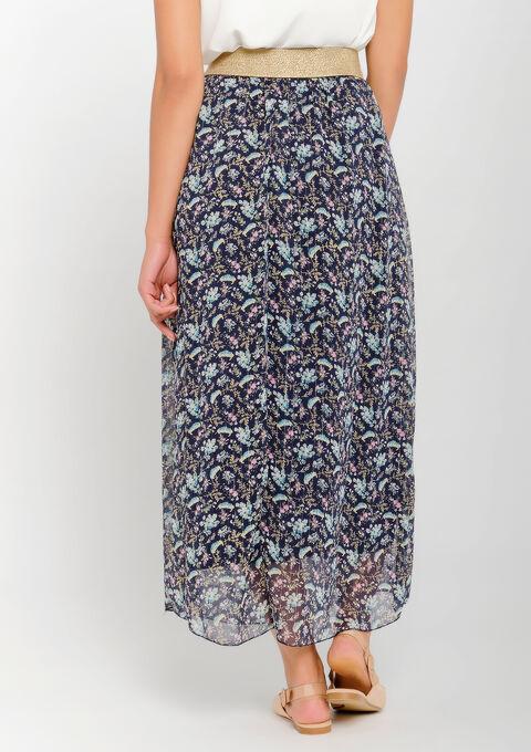 Jupe longue imprimé liberty - PEACOAT BLUE - 07100255_1655