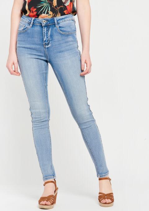 Denim skinny broek - BLUE BLEACHED - 06003945_502
