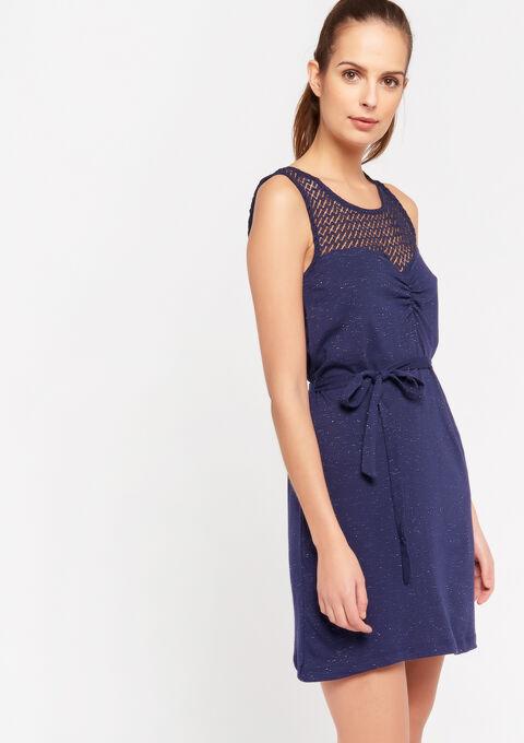 Midi jurk met doorschijnende stof - NAVY POWER - 15100051_2719