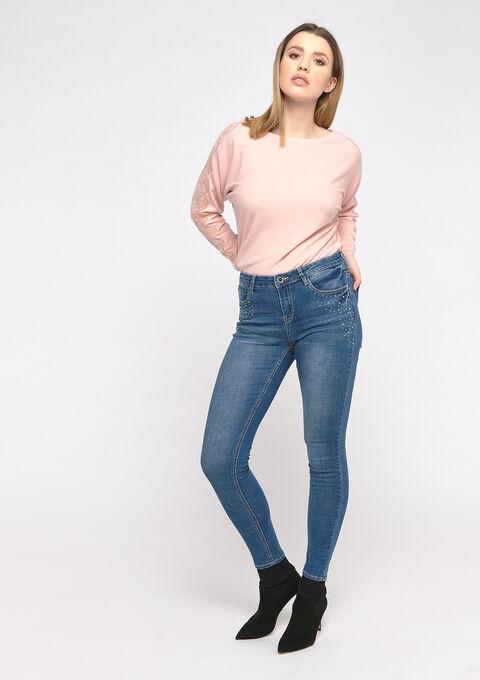 Skinny jeans met glitter - MEDIUM BLUE - 22000175_500