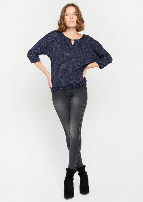 Sweater met juweel - PEACOAT BLUE - 03001420_1655