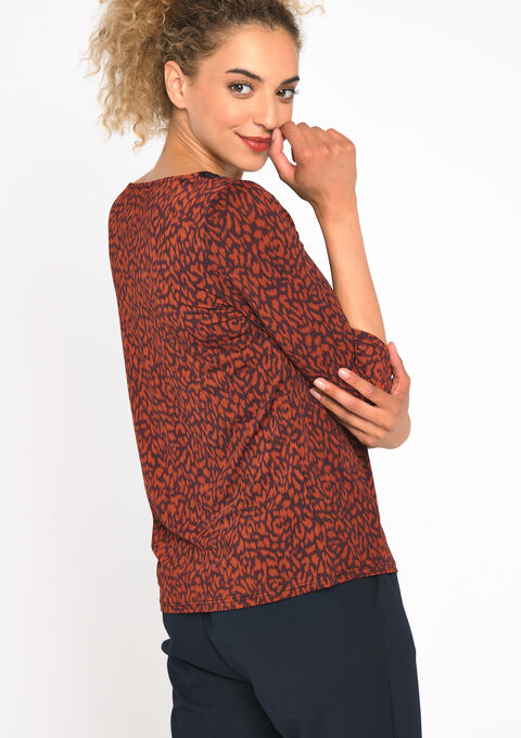T-shirt animal print - TERRACOTTA - 02300494_5303