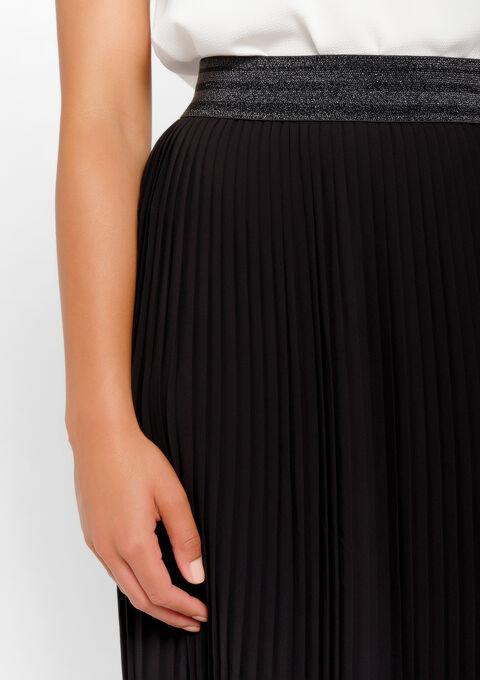 Jupe longue plissée - BLACK - 07100258_1119