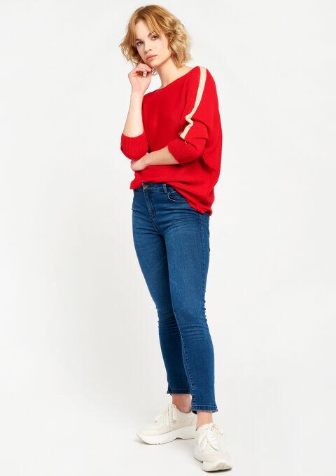 Lichte trui met striklint - RED PAVOT - 04004733_5307