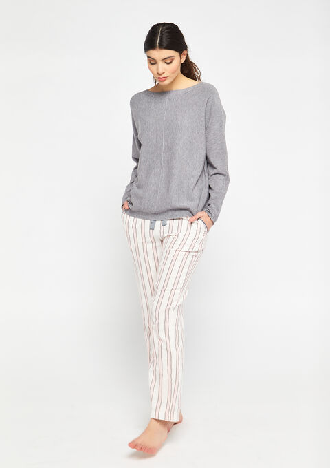 Pull col bateau loose - MEDIUM GREY MEL - 15100040_1068