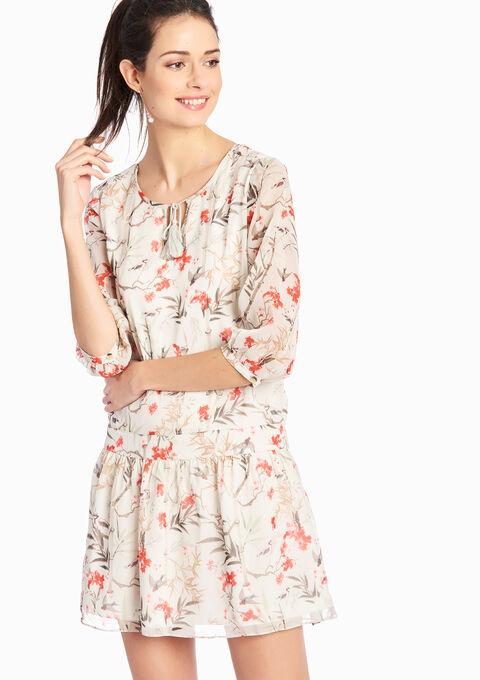 robe imprim floral manches 3 4 lolaliza. Black Bedroom Furniture Sets. Home Design Ideas