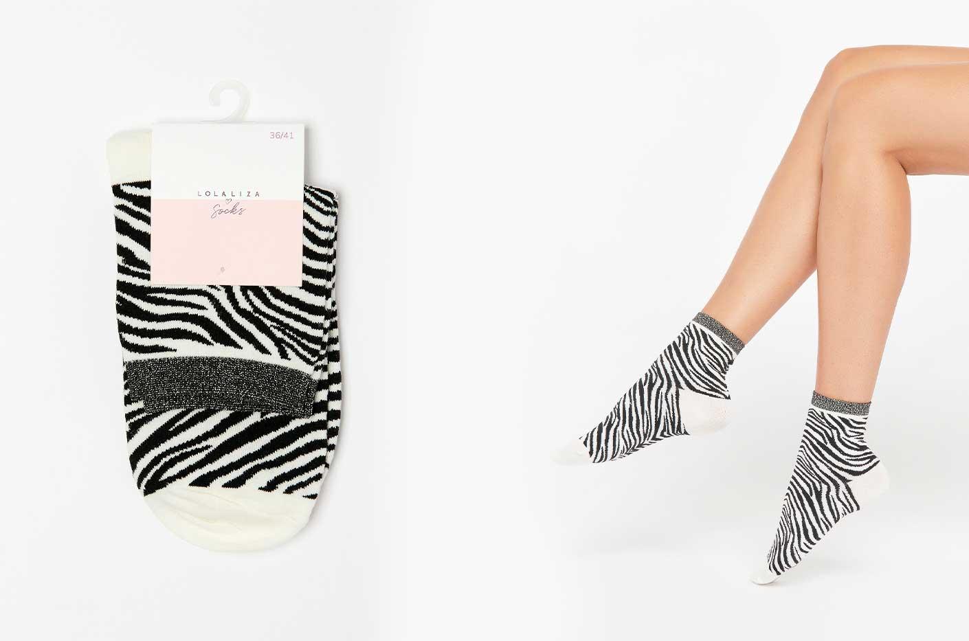 Sokken met zebra print lolaliza