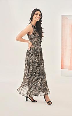 tatiana pleated dress