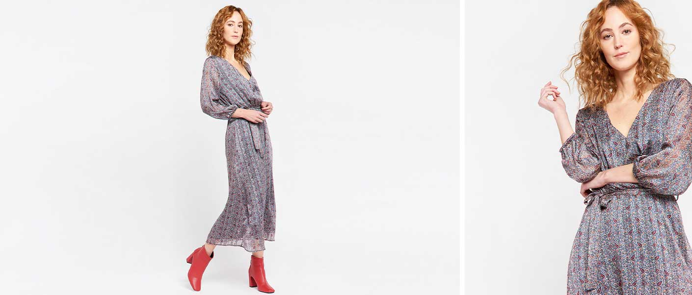Maxi jurk met paisley print