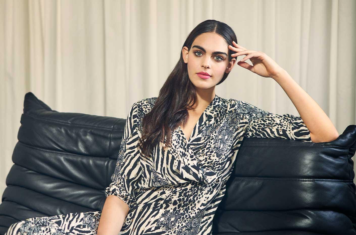 Hemd jurk met luipaard print