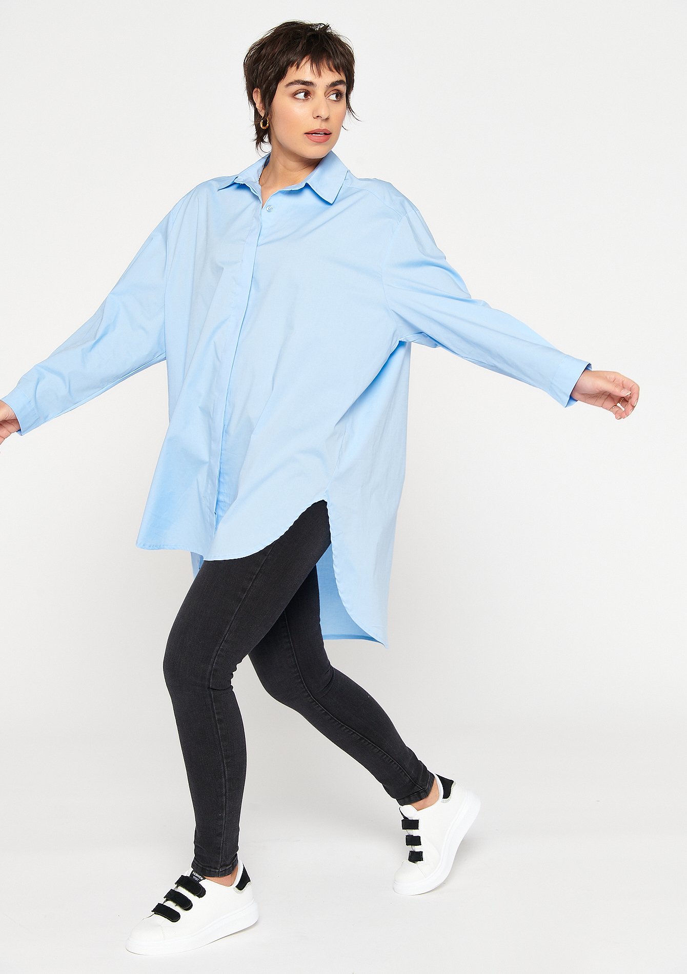 Chemise oversize - LIGHT BLUE - 05701575_1709