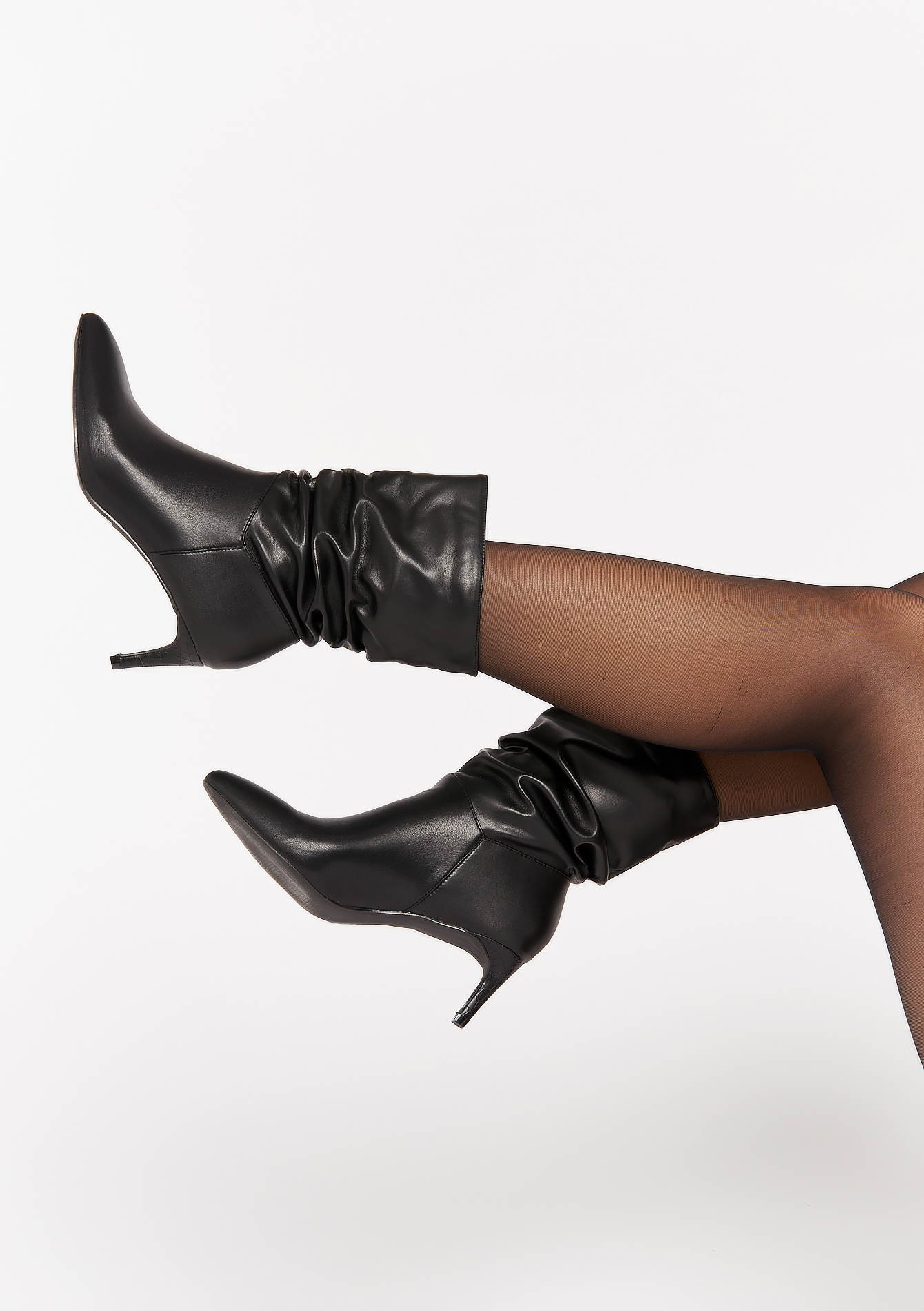 Ankle boots with high stiletto heels - BLACK - 13100087_1119