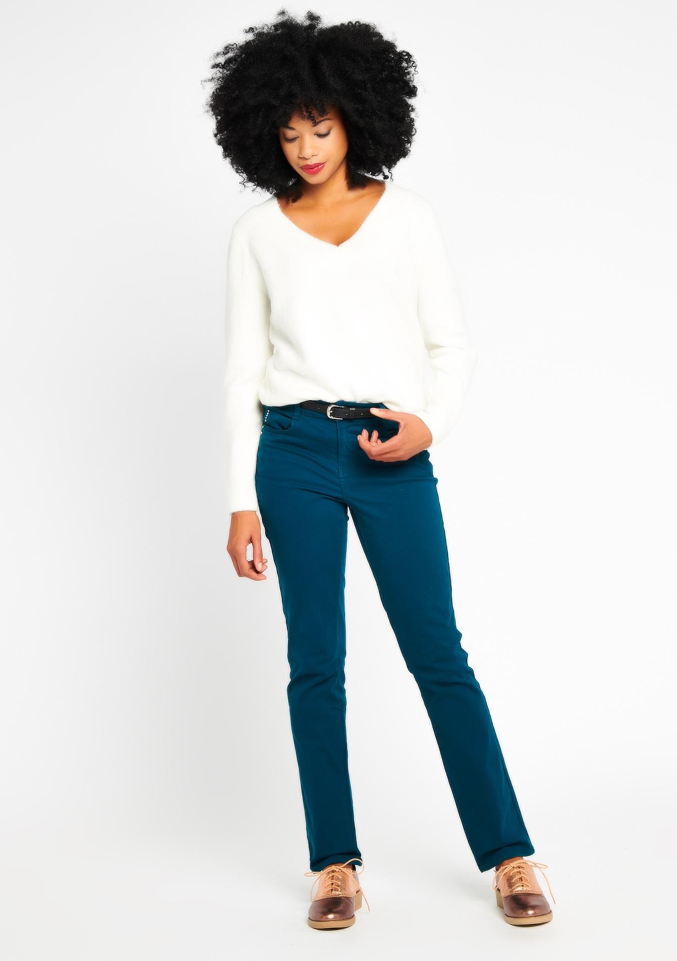 Basic broek met normale taille