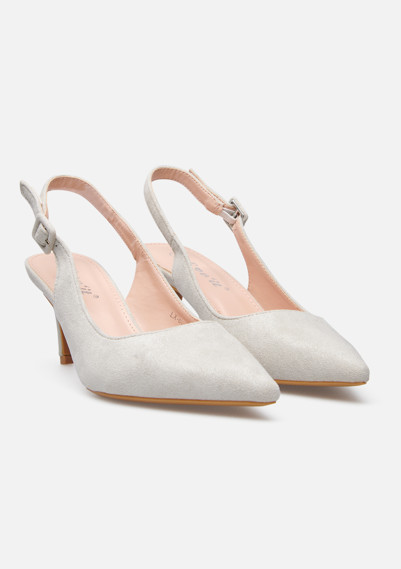 Hakken imitatie-suede - LIGHT GREY - 13200004_1076