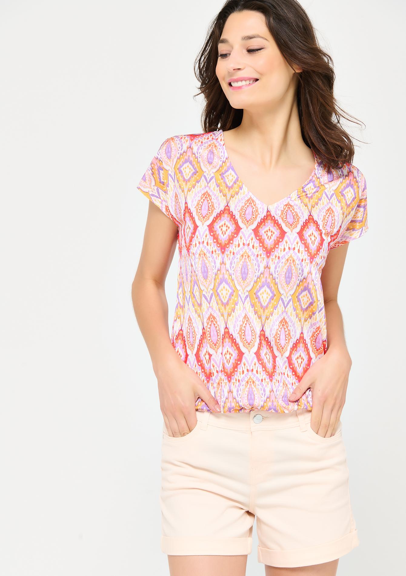T-shirt à imprimé coloré - LolaLiza - Modalova