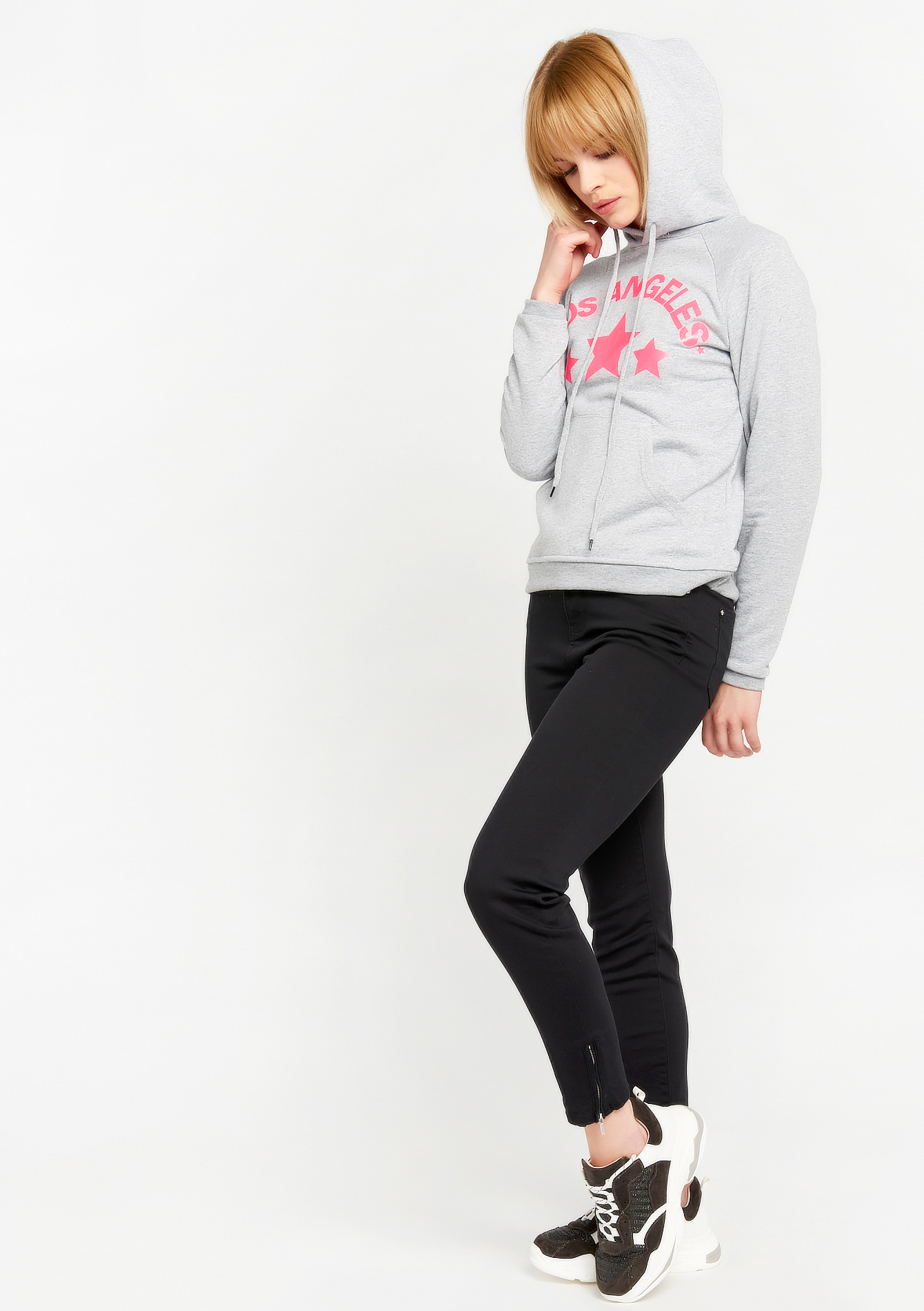 Hoody Los Angeles - FLUO PINK - 03001357_1394