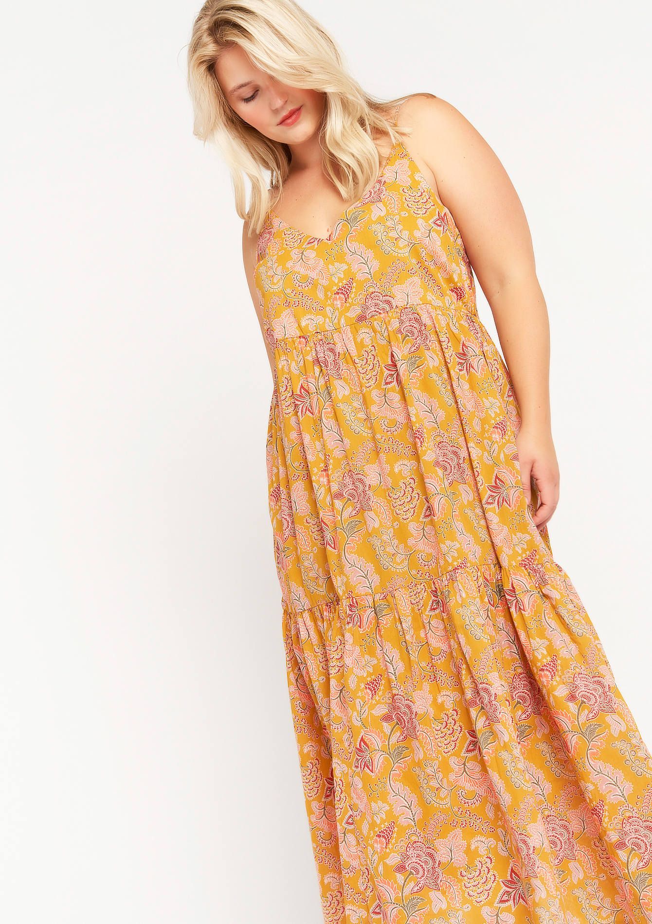 Robe longue avec imprimé floral - LolaLiza - Modalova