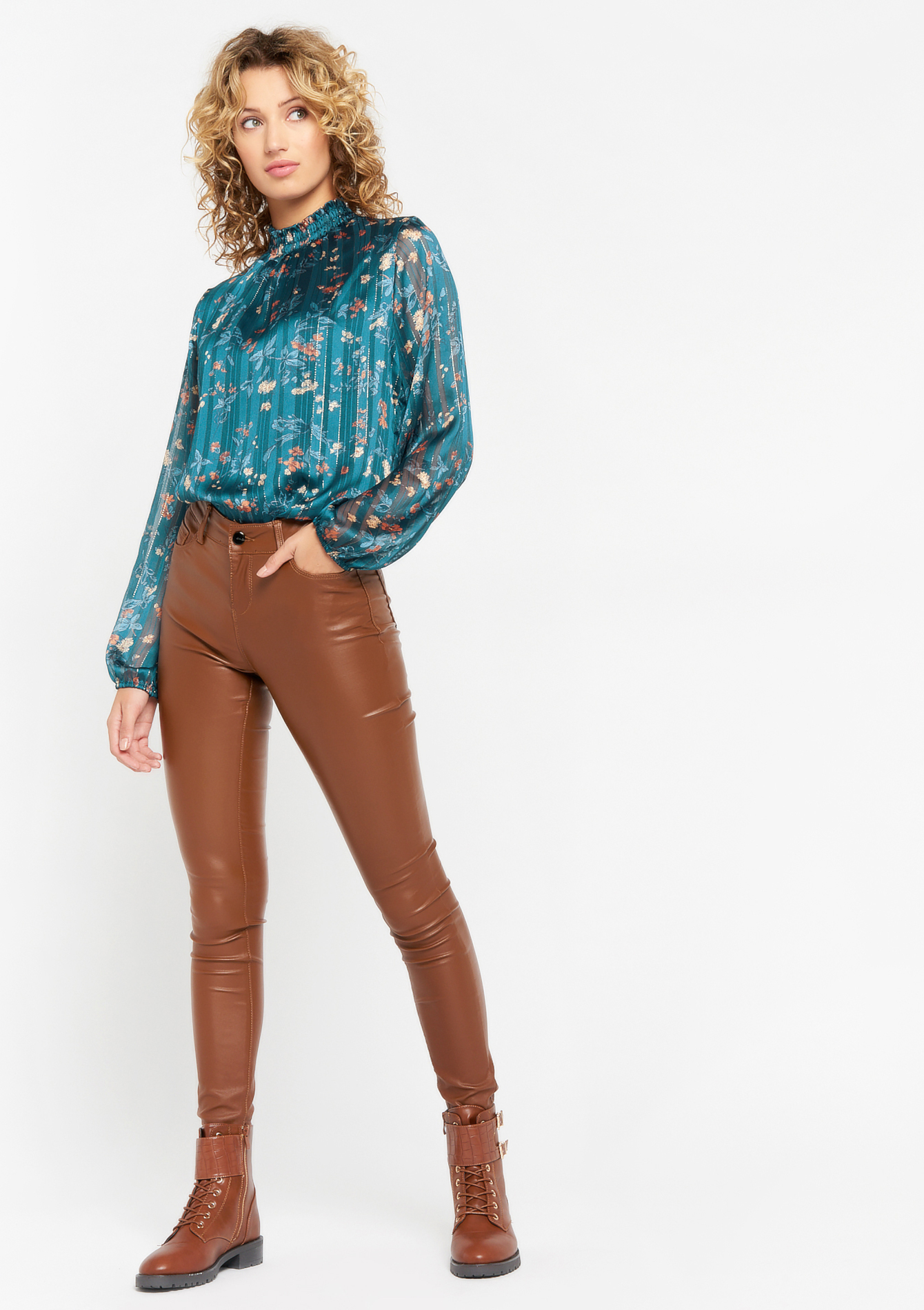 Pantalon skinny - TOFFEE BROWN - 06004078_1154
