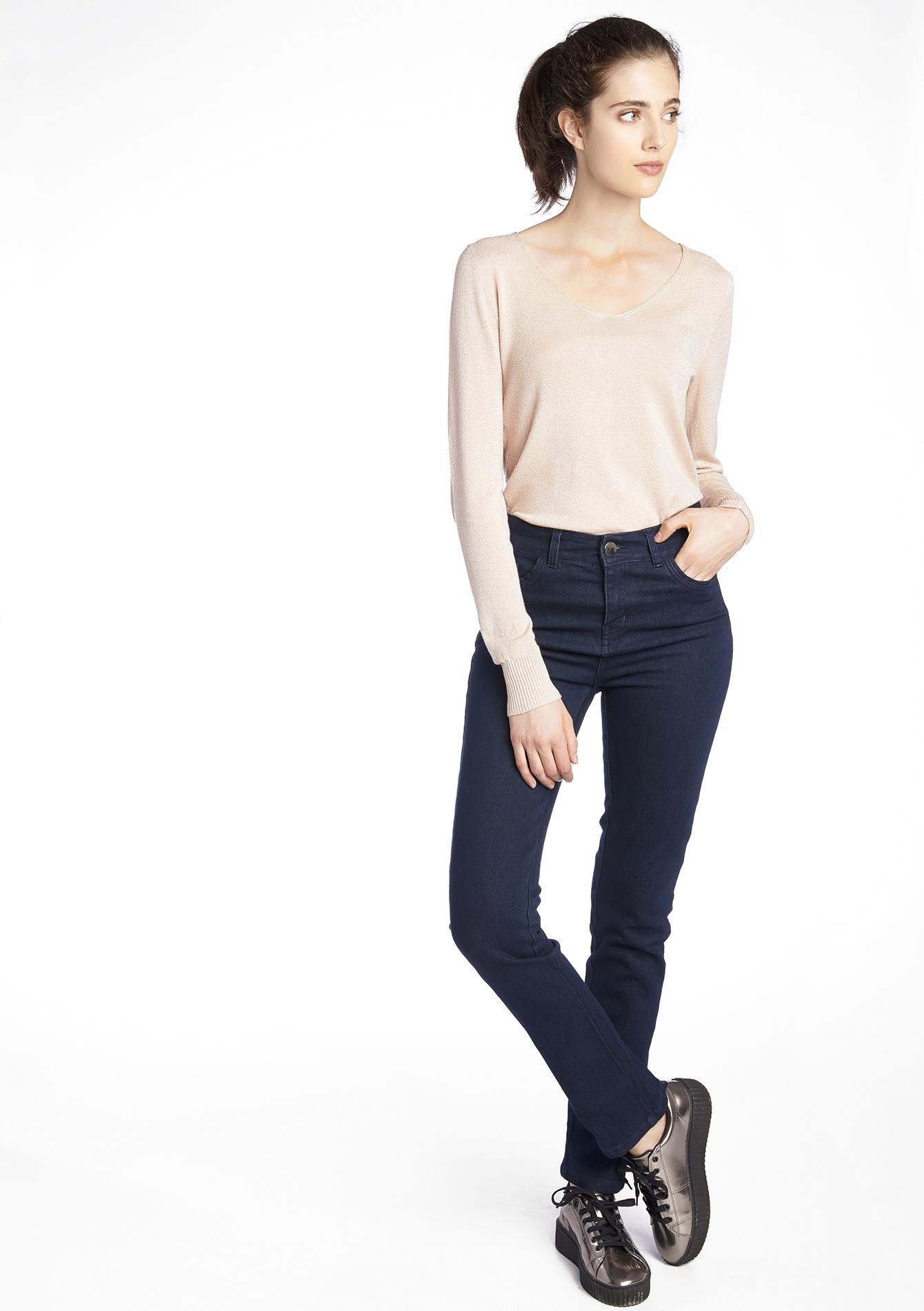 jeans droit taille haute lolaliza. Black Bedroom Furniture Sets. Home Design Ideas
