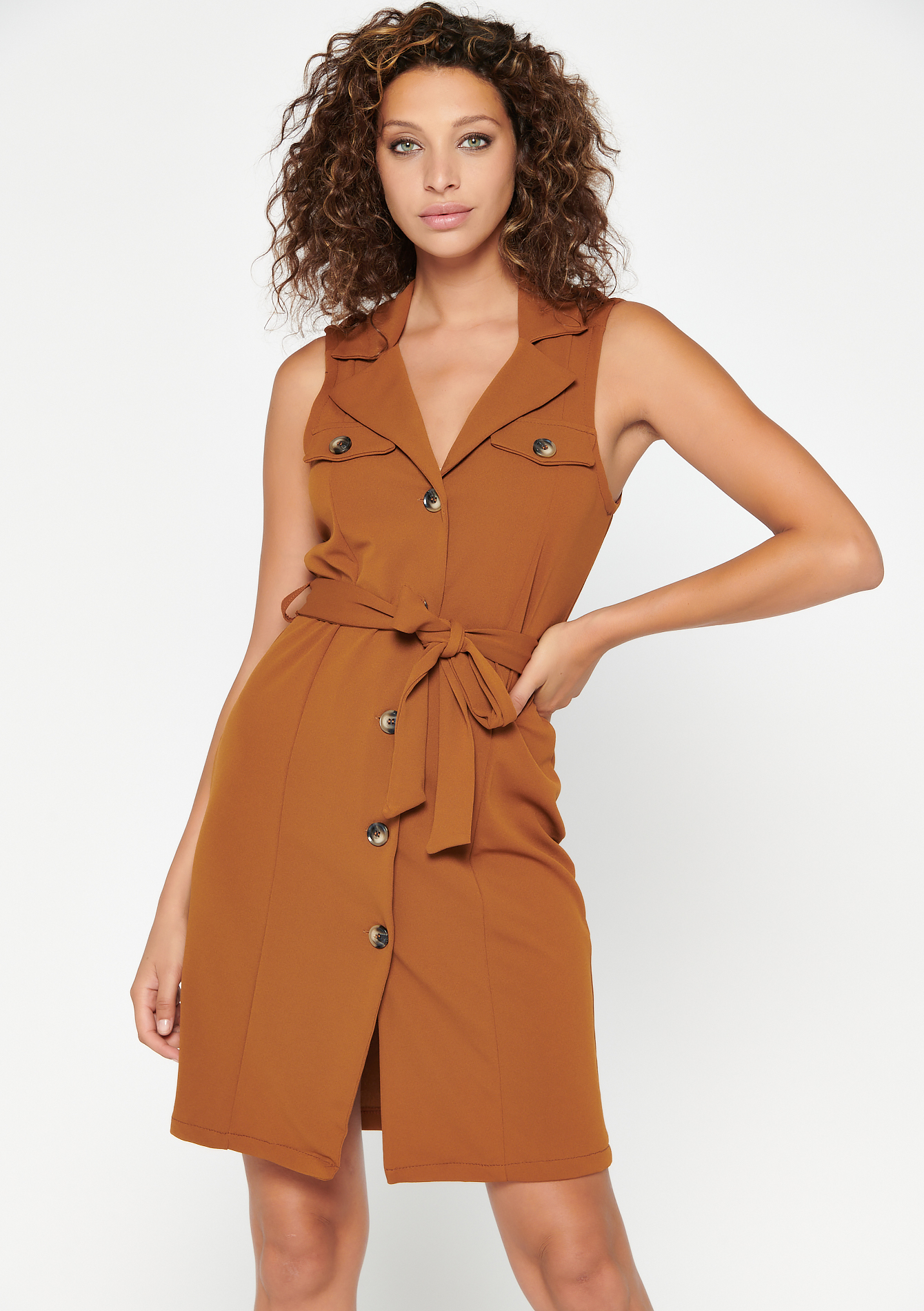 Mini blazer jurk - CARAMEL CAFE - 08102313_1275
