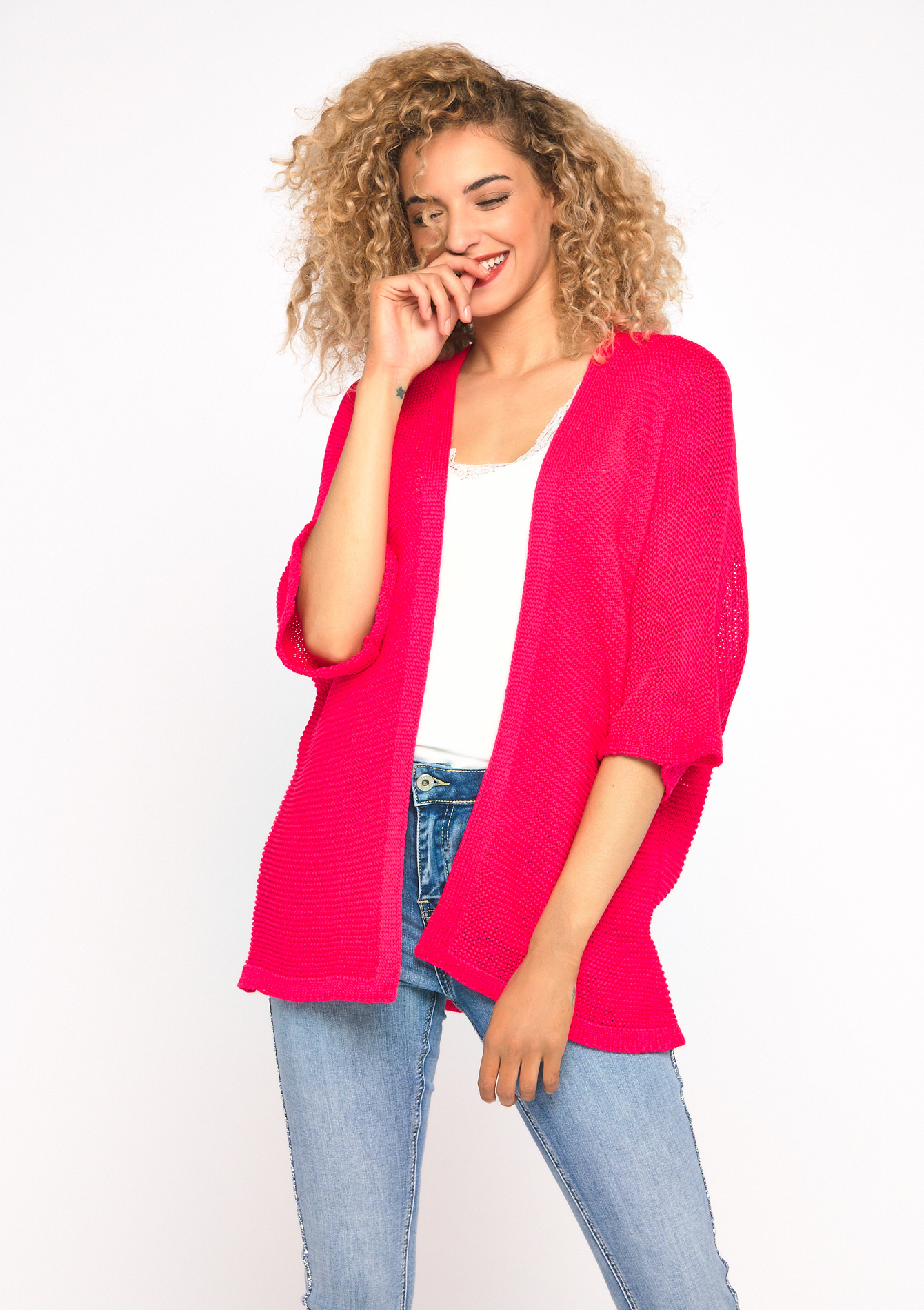 Cardigan - FLUO PINK - 04100650_1394