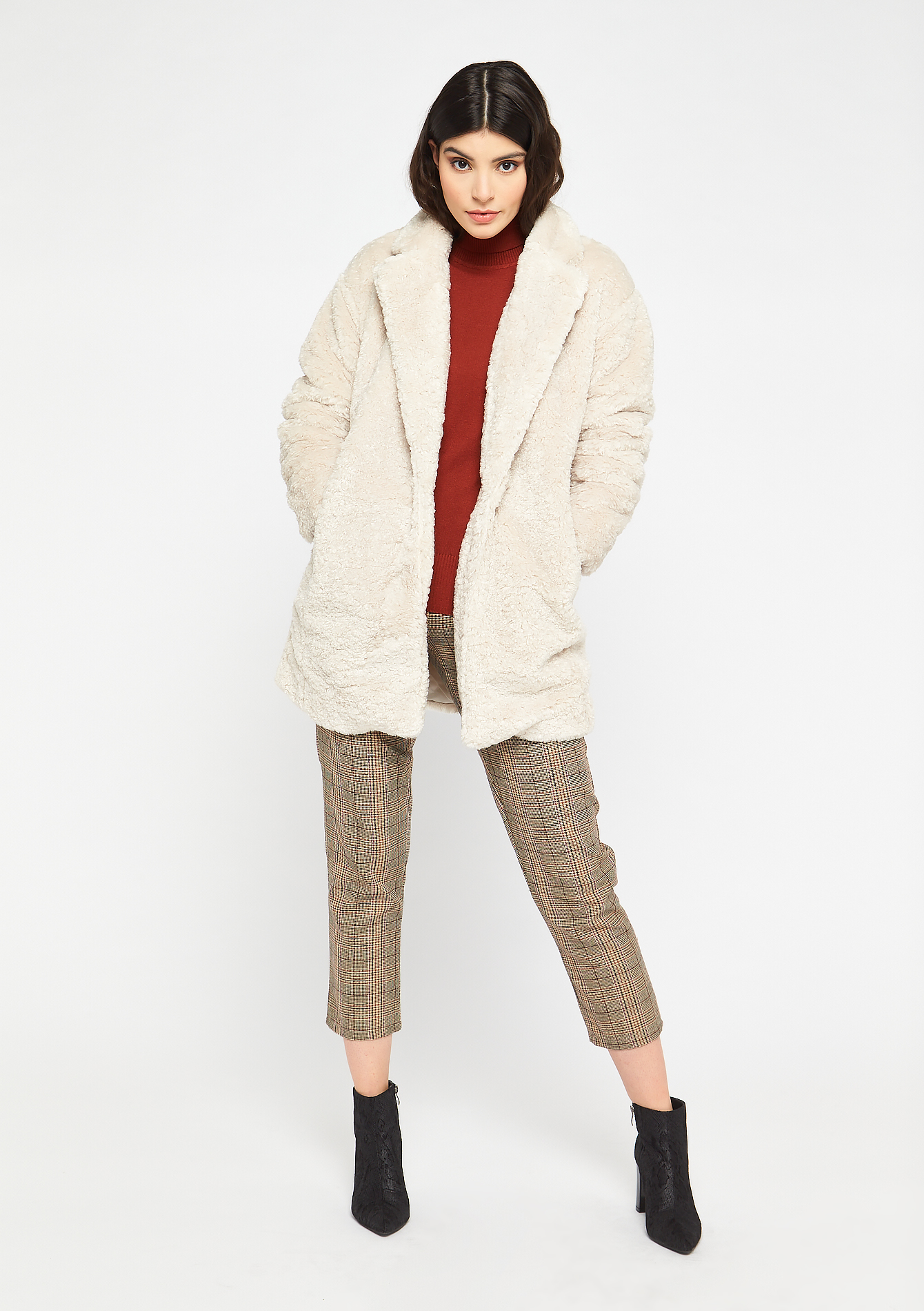 Oversized teddy mantel - OFFWHITE - 23000196_1001
