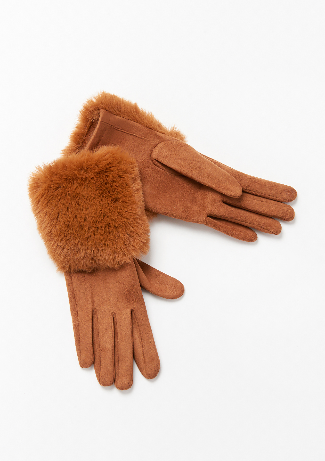 Suede gloves - CAMEL COFFEE - 1006539