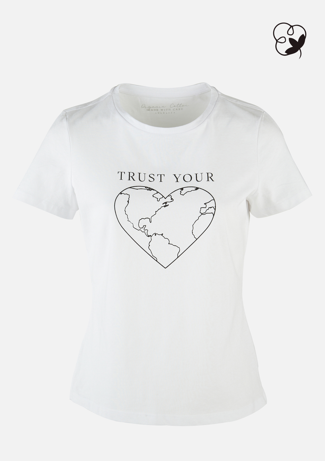 T-shirt coton organique - REAL WHITE - 02300596_2509