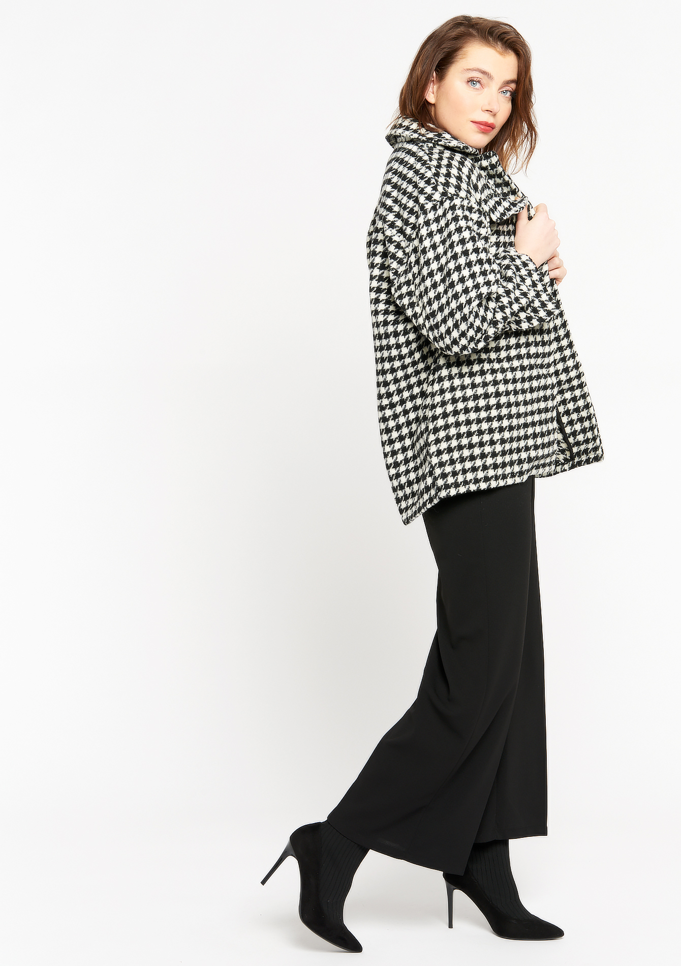 Oversized overhemd met print - BLACK BEAUTY - 09001294_2600